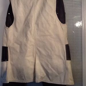 Other - White Vest with trimmed in black